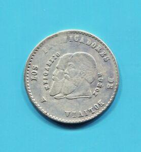 BOLIVIA-BEAUTIFUL-HISTORICAL-SILVER-1-2-MELGAREJO-LONG-BEARDS-1865-KM-145-1