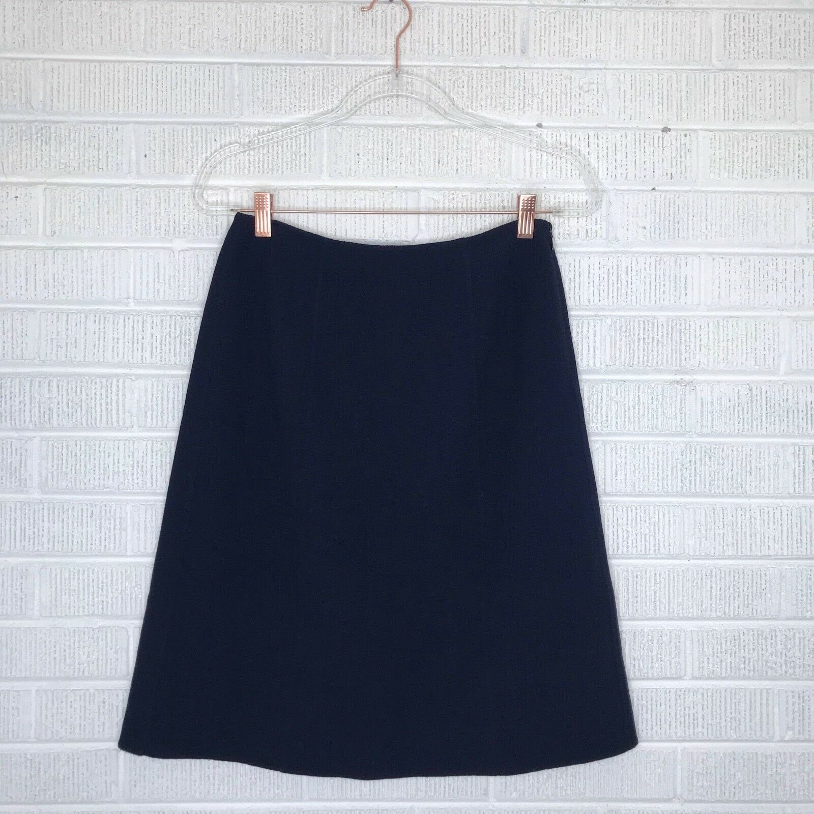 New Diane von Furstenberg Size 10 Panel Marta Skirt Navy bluee Textured Career