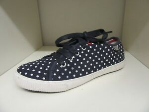 huge inventory good quality preview of Details about CREW CLOTHING CO NAVY WHITE SPOTTY SNEAKERS TRAINERS PUMPS  SIZE 4 BRAND NEW