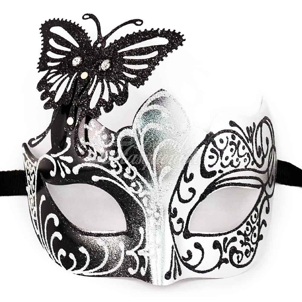 Classic Butterfly Masquerade Mask Black M7106 Women/'s Masquerade Mask