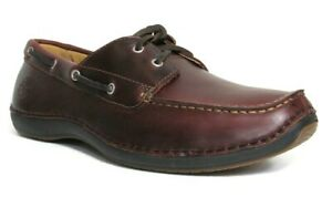 TIMBERLAND-74013-ANNAPOLIS-2-Eye-Moc-Toe-Hommes-Rootbeer-cuir-Chaussures-bateau
