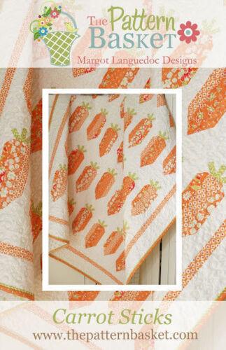 Quilt Pattern CARROT STICKS 5 1//2 yard fabrics THE PATTERN BASKET