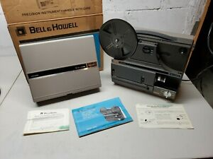 BELL-amp-HOWELL-Multi-Motion-Movie-Projector-8mm-Super-8-Model-1623Z-in-Box-Manual