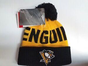 TODDLER Pittsburgh Penguins Knit Hat Team Apparel Pom Cuff Stocking ... cb97257af198