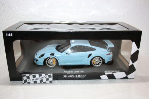 GT3 RS • Gulf Blau • 2015 • NEU • Minichamps • 1:18 Porsche 911 991