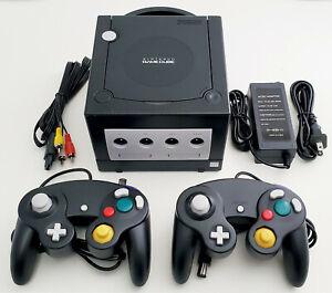 Nintendo GameCube DOL-001 Gaming System Console 2 Controller Bundle Black GCN