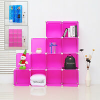 12 Modular Storage Diy Cube Shelf Organizer Clothes Shoe Wardrobe Cabinet Closet