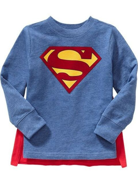 NWT Old Navy DC Comics Winged Superhero Costume Superman Cape Tee T-Shirt  NEW