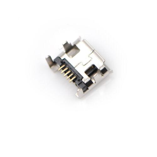 10pc Micro USB Type B Female 5Pin DIP Socket Jack Connector Port Charging H/&P