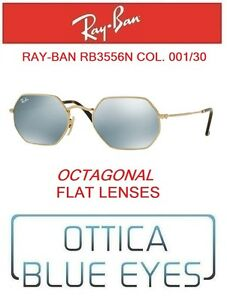 d6a4e65ddf4dd Image is loading RAYBAN-Sunglasses-rb3556n-001-30-Octagonal-Flat-lenses-
