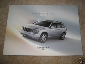 2005 Chrysler Pacifica Touring >> Details About 2005 Chrysler Pacifica Touring Sales Brochure Literature Dealer Catalog
