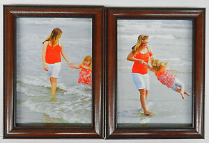 35x5 4x5 4x6 5x7 8x10 Cherry Black Wood Picture Photo Frame Double