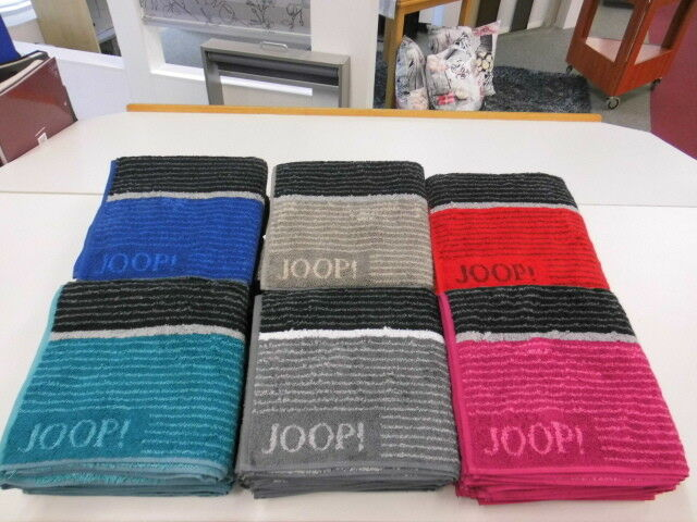 JOOP  Lines 1658 Signatur Waschhandsch. Gästetuch Handtuch Duschtuch Saunatuch   | Ausgewählte Materialien