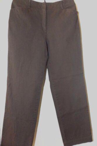 J JILL Brown Stretch Fuller Leg Pants Size 6