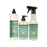 Mrs Meyers Basil 3ct Kitchen Set (dish Soap / Hand Soap / Multi... Free Shipping