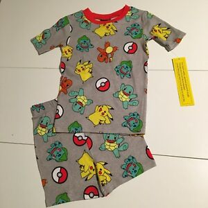 1d1dfc1dce NWT Pokemon 100% Cotton Size 12 Pajamas 2 Piece Boys Girls Shirt ...