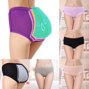 Womens Menstrual Period Plus Size Comfy Panties High Waist Leakproof Underwear