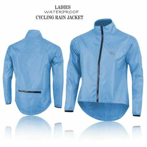 LADIES CYCLING JACKET HIGHLY VISIBLE HI VIZ WATERPROOF FOR WOMEN SPECIAL BYCYCLE