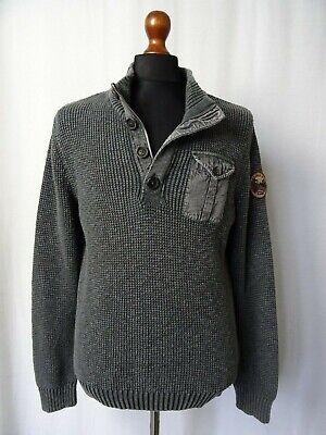 Candido Men's Vintage Napapijri Geographic Maglia Di Cotone Sweater Maglione L 44r-mostra Il Titolo Originale Long Performance Life