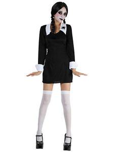 miglior prezzo per 100% originale buono sconto Dettagli su Kids Creepy School Girl MERCOLEDI 'ADDAMS COSTUME HALLOWEEN  COSTUME 3-13 anni- mostra il titolo originale