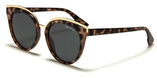 BeOne Polarized Oversize Cat Eye Femme ronde Lunettes de soleil