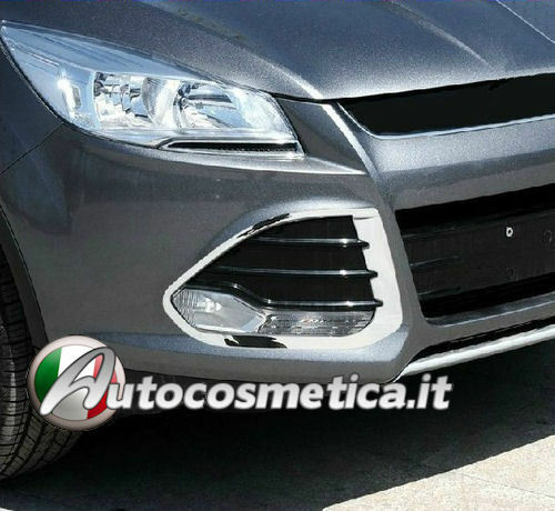 COVER CORNICI ANTENEBBIA PARAURTI IN ABS CROMO  Ford Kuga new modell 2013 in poi
