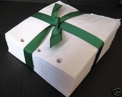 40 5X5.25  WHITE paper bag scrapbook//album// piecing