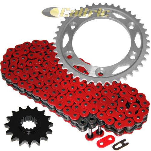 Red O-Ring Drive Chain /& Sprockets Fits HONDA CBR900RR Fireblade SC44 SC50 00-03