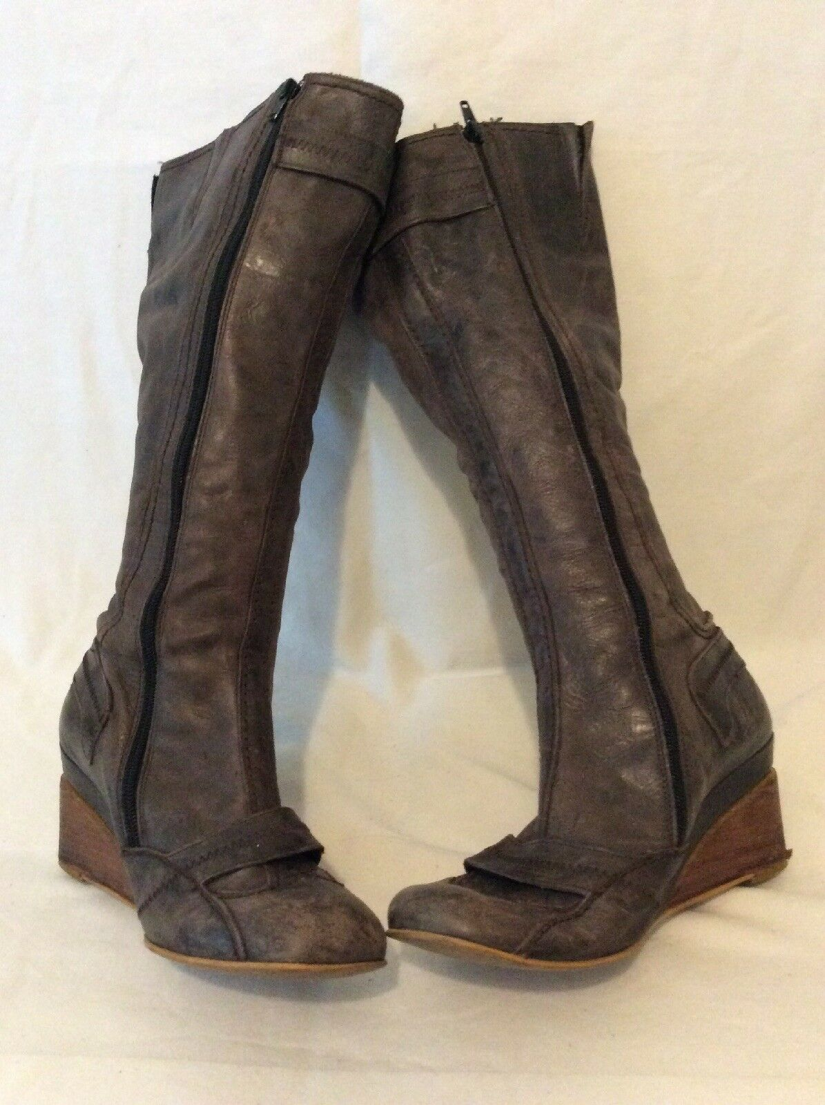 Fly Girl Brown Knee High Leather Boots Size 39 39 39 b6fb33