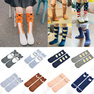 Baby-Kids-Toddlers-Girls-Knee-High-Cotton-Socks-Tights-Leg-Stockings-For-Age-0-6