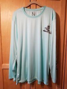 NWT Men/'s Spicy Tuna Long Sleeve Microfiber Fishing UV Protection Shirt Navy XXL