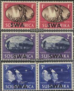 Namibie-Southwest-246-251-horizontaal-Koppels-compleet-A-met-Fold-1945-Victor