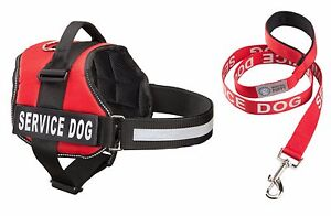 SERVICE-DOG-Vest-Harness-amp-Matching-Leash-Set-by-Industrial-Puppy