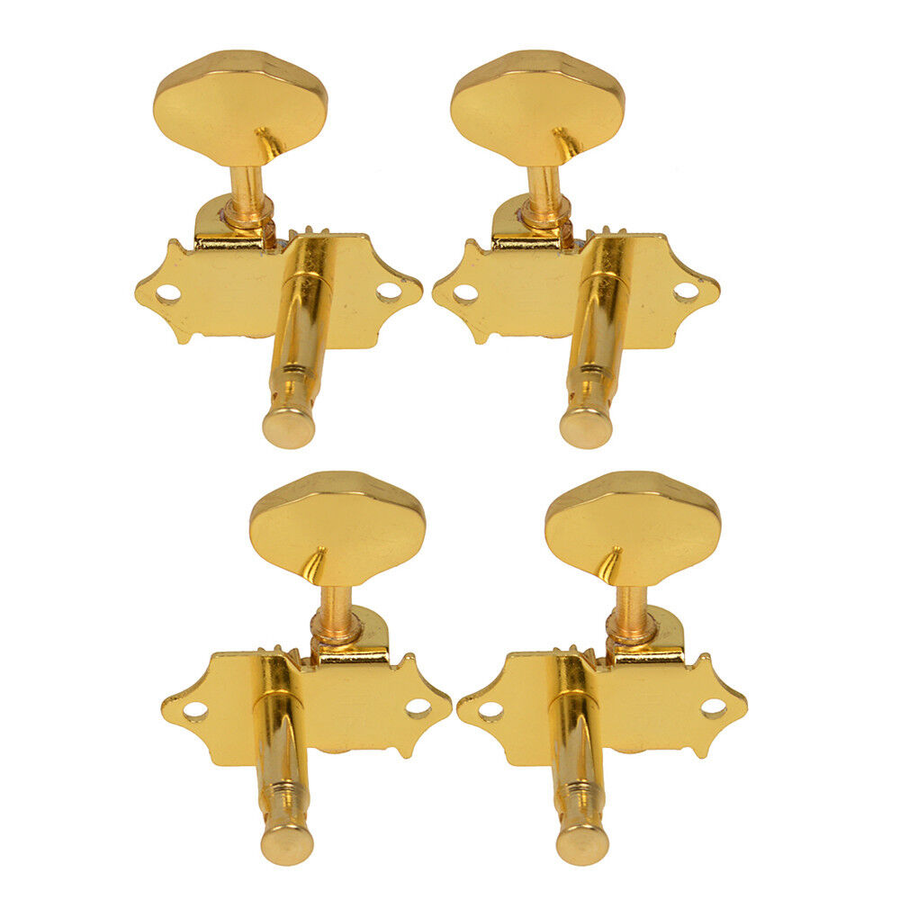4pcs Gold Plated Metal 4 String Ukulele Tuning Pegs Tuners