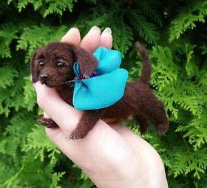 Labrador-Retriever-Dog-Felted-Realistic-Miniature-Sculpture-Pet-by-Yana-Fedorova