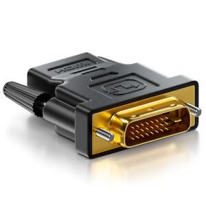 deleyCON HDMI zu DVI Adapter - HDMI Buchse zu DVI Stecker - vergoldete Kontakte