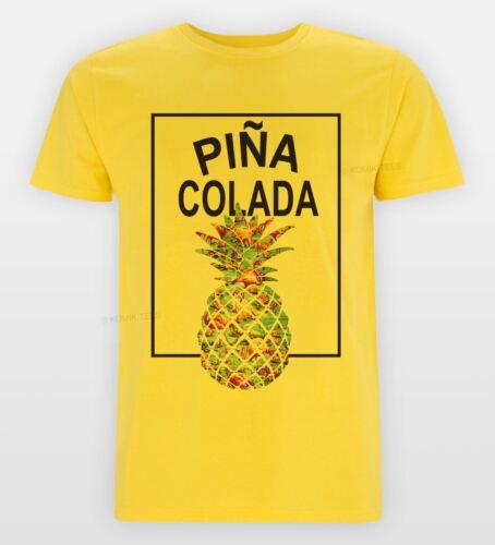 Pina Colada ananas tropical tee Slogan Cool swag hipster T-Shirt Vacances Top