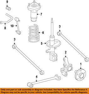 toyota oem 98 02 corolla rear suspension strut 48540a9060 ebay rh ebay com 2002 toyota corolla rear suspension diagram 2002 toyota corolla rear suspension diagram