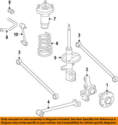 toyota oem 98 02 corolla rear suspension strut 48540a9060 ebay  2001 toyota corolla rear suspension diagram #2