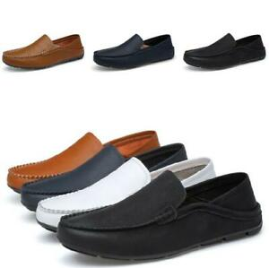 Mens-Flats-Mocasin-Slip-on-Driving-Soft-Non-slip-Breathable-Vogue-Loafers-Shoes