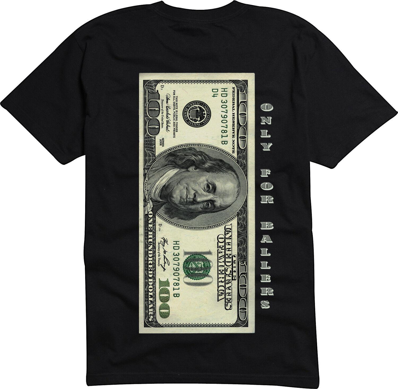 100 Dollar Bill Baller Law Of Attraction Abundance Shirt. Only For Ballers