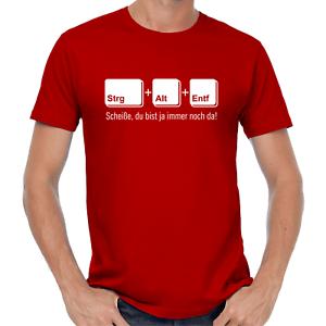 STRG-ALT-ENTF-Nerd-Gamer-Geek-Sprueche-Affengriff-Lustig-Spass-Comedy-Fun-T-Shirt