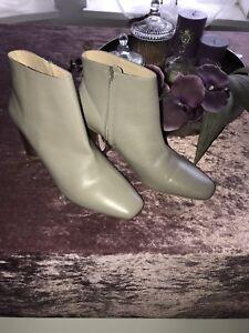 ZARA-Blogger-Ankle-BOOTS-Stiefelletten-Stiefel-Gr41-Braun-grau-beige-NEU-Etikett