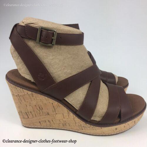 Rrp Cuña Danforth Correa talón del Zapatos £ Sandalias Timberland tobillo Cork para mujer 100 PqnwqS1p8
