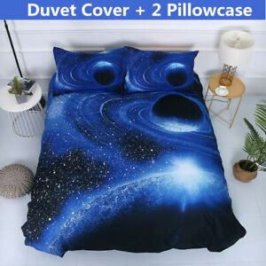 3D-Galaxia-Espacio-del-lecho-del-universo-espacio-Exterior-Conjunto-De-Funda-De-Edredon-Fundas-De