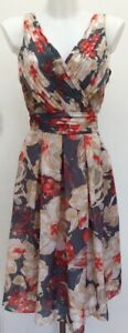 BNWT-Rrp-165-Laura-Ashley-Grey-Coral-Fit-N-Flare-Floral-Midi-Occasion-Dress-14