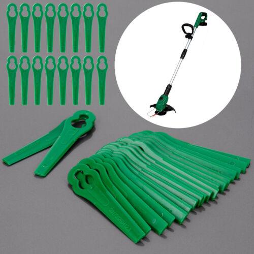 200x Ersatz Plastik Messer Schneidplättchen für Bosch Akku Rasentrimmer Grün