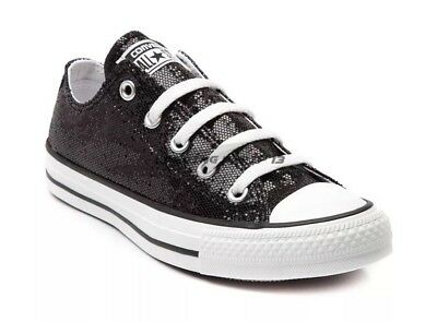 d68ae22af355 Converse Chuck Taylor All Star Ox Black Sequin 136079f Women 11 Mens ...
