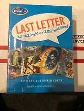 ThinkFun Last Letter Illustrated Card Game Ages 8-adult