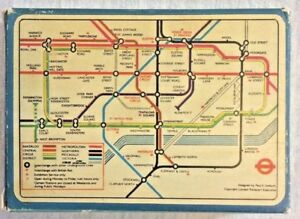 Subway Map Of London.Vintage London Underground Playing Cards Issued Between 1933 1948